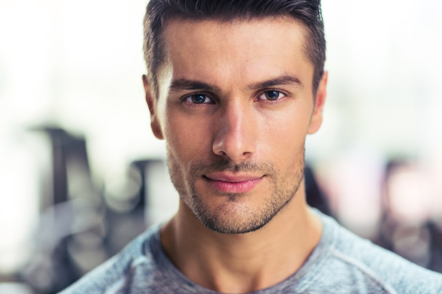 Photo of man with attractive jawline from jawline exercises